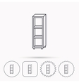 Empty shelves icon Shelving sign vector image