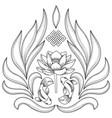 buddhism symbols pattern vector image