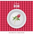 Advertising banner with decorative tableware vector image