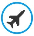 Aeroplane Circled Icon vector image vector image