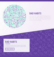 bad habits concept in circle vector image vector image