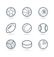 balls for sport icon pack vector image vector image