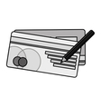 bank check isolated icon vector image vector image
