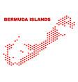 bermuda islands map - mosaic of valentine hearts vector image vector image