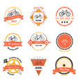 bicycle club oldschool emblems vector image vector image