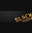 black friday sale lettering golden vector image vector image