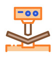 breaking tool factory metallurgical icon vector image vector image