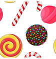 candies and sweets colored background seamless vector image