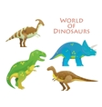 Cartoon dinosaur or reptile animal dino vector image