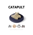 Catapult icon in different style vector image vector image