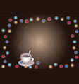 christmas festive banner postcard background vector image vector image