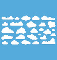 clouds in blue sky icon set vector image vector image