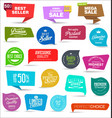 collection colorful sale stickers and tags 03 vector image vector image