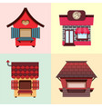 collection of fixed stalls for external usage set vector image