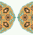 Colorful round floral border abstract background vector image
