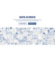 data science banner design vector image vector image