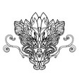 dragon head hand drawn sketch vector image vector image