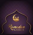 elegant ramadan kareem background vector image