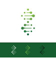 genetic logo vector image vector image