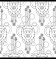 geometric lion seamless pattern vector image vector image
