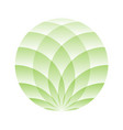 green lotus circle - symbol of yoga wellness vector image vector image