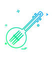 guitar icon design vector image vector image