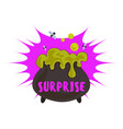 halloween surprise logo cartoon style vector image vector image