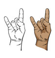 heavy metal music devil hand sign vector image vector image