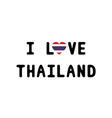 I love Thailand9 vector image vector image