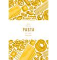 italian pasta design template hand drawn food vector image