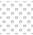 kievan rus crown pattern seamless vector image vector image
