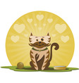 kitten with ball vector image vector image