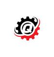letter q gear logo design template vector image vector image