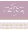 logo depicting shells and pearls Health vector image vector image