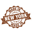 made in new york round seal vector image vector image