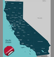map state california usa vector image