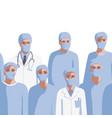 medicine professionals in medical mask seamless vector image