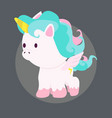 mini cute unicorn vector image vector image