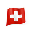 national flag of switzerland white cross in vector image