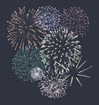 new year party fireworks vector image