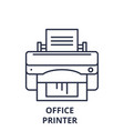 office printer line icon concept office printer vector image