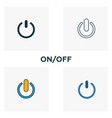 on off icon set four elements in diferent styles vector image vector image
