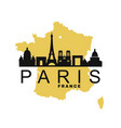 paris and map france vector image