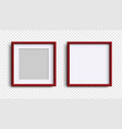 photo frames isolated realistic square dark red vector image vector image