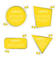 quote yellow outline frames vector image vector image