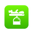 scale baby icon green vector image vector image