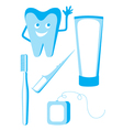 set of dental icons vector image vector image