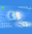 set three layer antivirus mask or n95 or kn95 vector image vector image