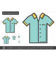 short-sleeve shirt line icon vector image vector image