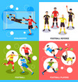 soccer players design concept vector image